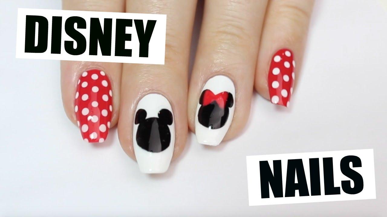How To Disney Nail Art Youtube