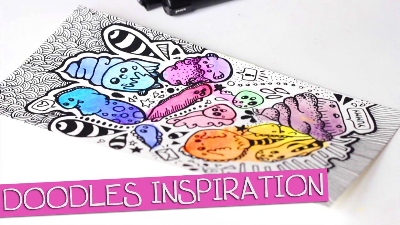 Tuto dessin doodles et inspiration speed drawing youtube - Doodle dessin ...