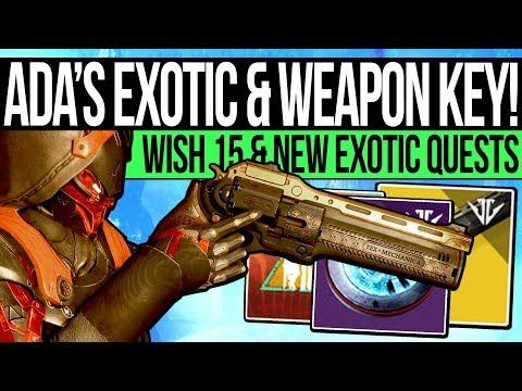 Destiny 2 | ADA'S EXOTIC QUEST & WEAPON SECRET! Izanami Unlock, Last Word Quest, Wish 15 & Bundle! thumbnail