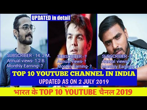 Top 10 Youtubers In India 2019 | 10 Most Subscribed Youtube Channel In India