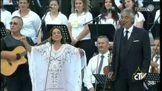 Noa (Achinoam Nini) and Andrea Bocelli - Beautiful that Way - in Vatican City