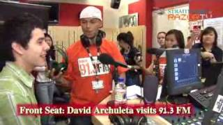 David Archuleta on the Front Seat at 91.3FM / Razor TV singapore - part 2 of 5