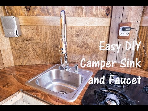 Easy DIY Camper Sink and Faucet - Cargo Trailer RV Conversion - YouTube