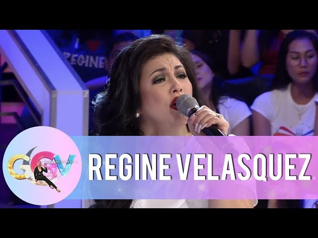 GGV: Regine Velasquez sings a few lines from her iconic songs