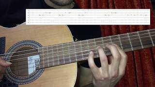 Hotel California Solo made easy on classical guitar . Slow Lesson TABS ..mp3