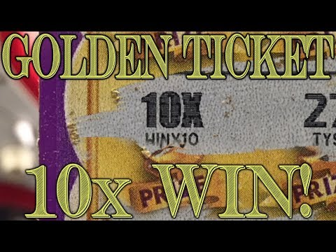 10x WIN!! Golden Ticket - $100 In Colorado Lottery Scratch Off Tickets!