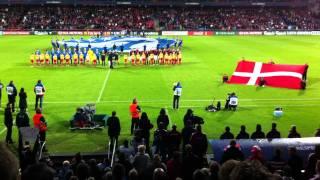 em u21 denmark iceland aalborg danish national anthems