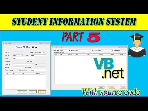 VB.Net Student Information System| Fees Collect | Fees Collection Details | using MS Access DB #5