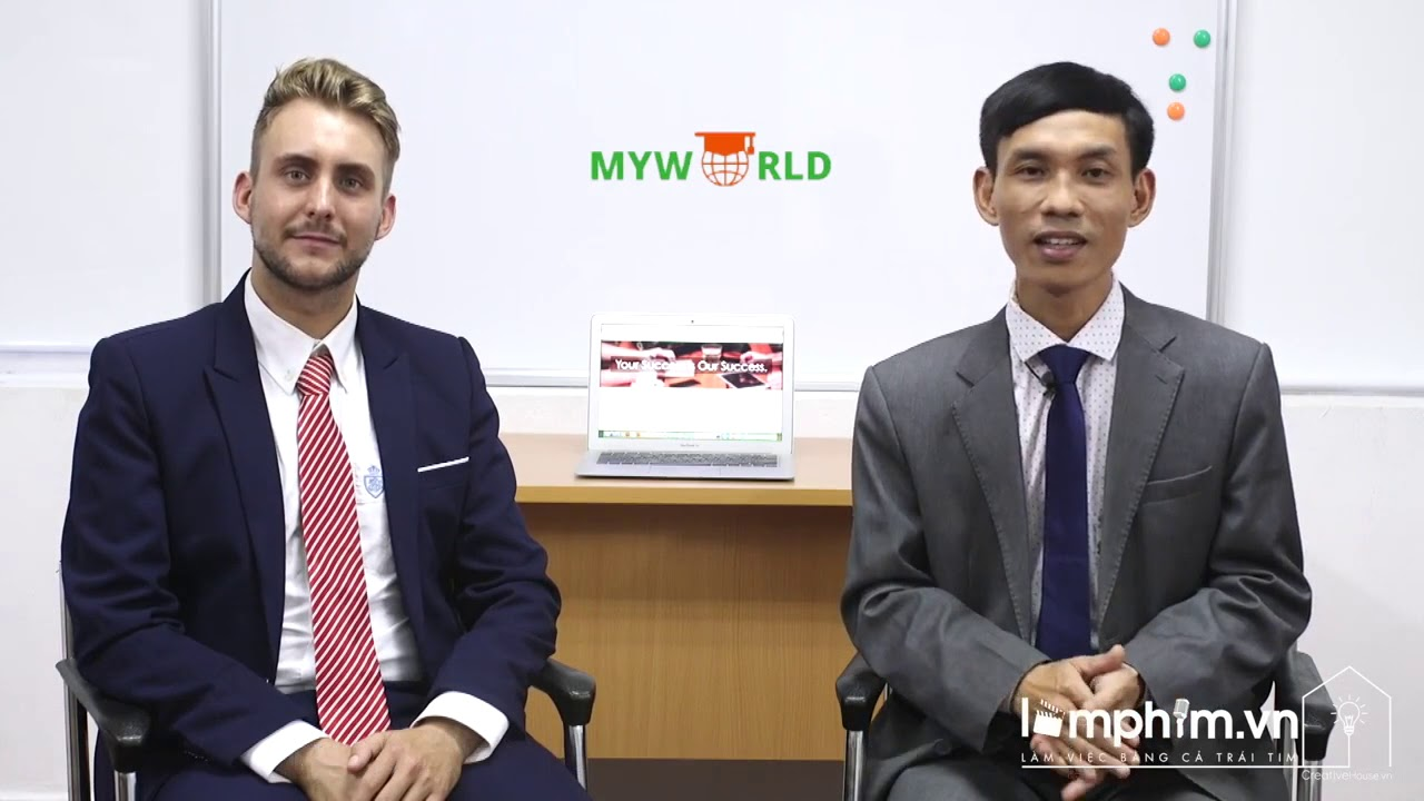 Quay phim bài giảng tiếng anh online cho trung tâm tiếng anh MyWorld
