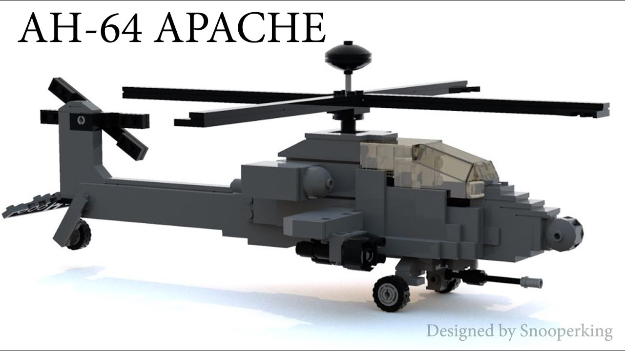Lego Ah 64 Apache Longbow Attack Helicopter Tutorial Instructions