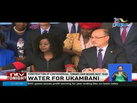 One of the largest dams in Kenya to be constructed in Kitui