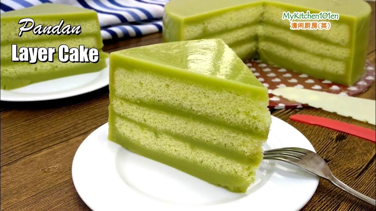 Pandan Layer Cake Mykitchen101en