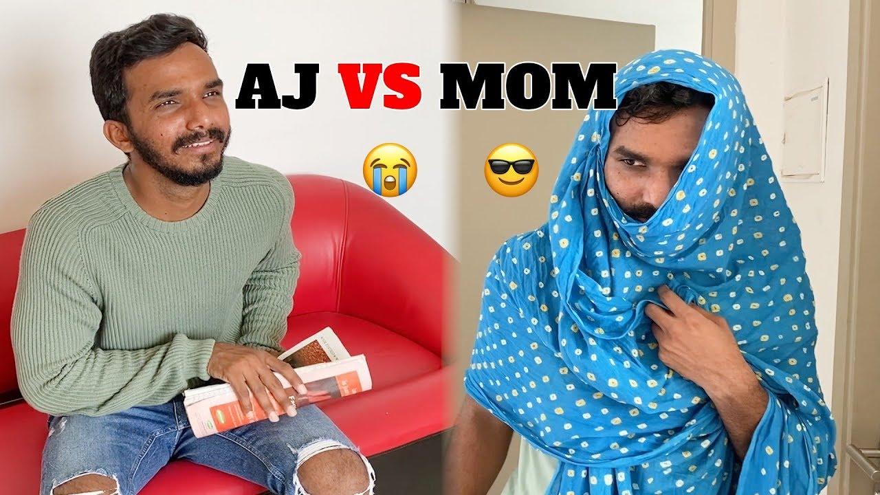 WHEN TELUGU MOM IS SO SMART ft. AJ | Oye It's Prank | Oye It's Majnu