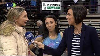 Συνέντευξη Μαρία Μπελιμπασάκη - Φανή Χαλκιά μετά τον τελικό των 400μ Πανελληνίου Κλειστού