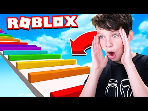 LITTLE BROTHER PLAYS FIRST ROBLOX OBBY!