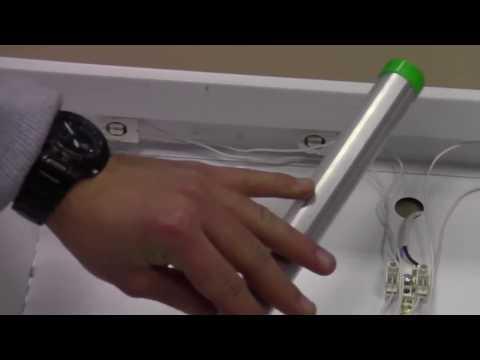 Замена ртутных ламп Т8 на светодиодные - своими руками.