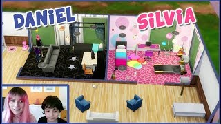 The Sims Room Challenge! 😂 Silvia VS Daniel 😆