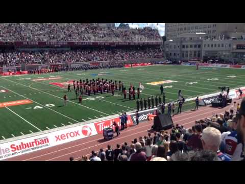 F18 fly past at Alouettes football game 7 September 2014