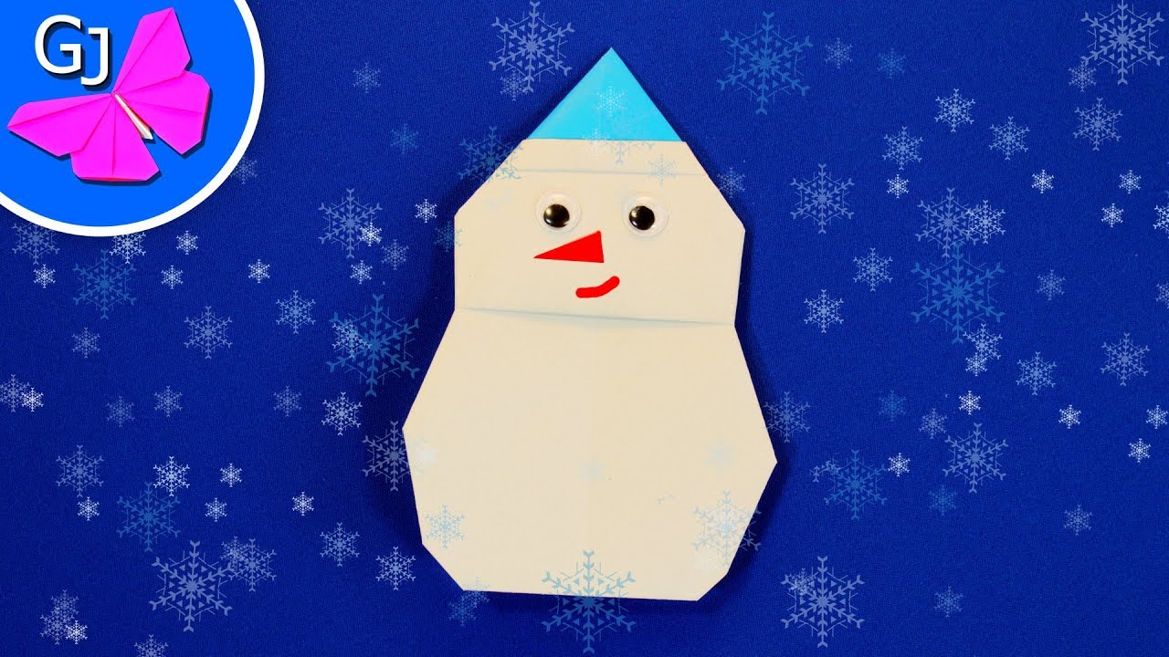Оригами видео как сделать снеговика фото 880