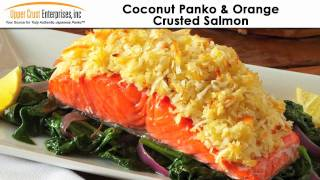Coconut Panko & Orange Crusted Salmon