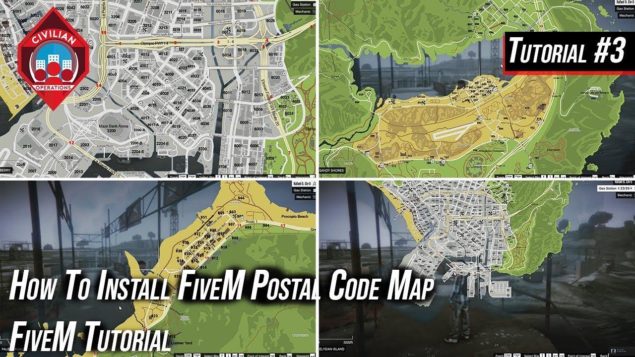 FiveM Tutorial | How to Install Postal Code Map