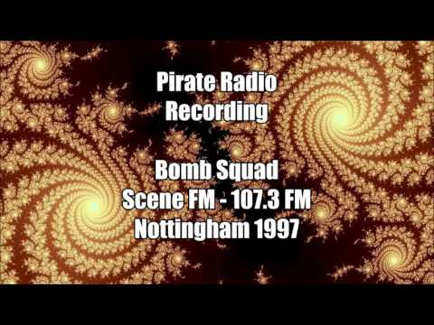 Bomb Squad on Scene FM 107.3 Nottingham 1997 DnB Pirate Radio