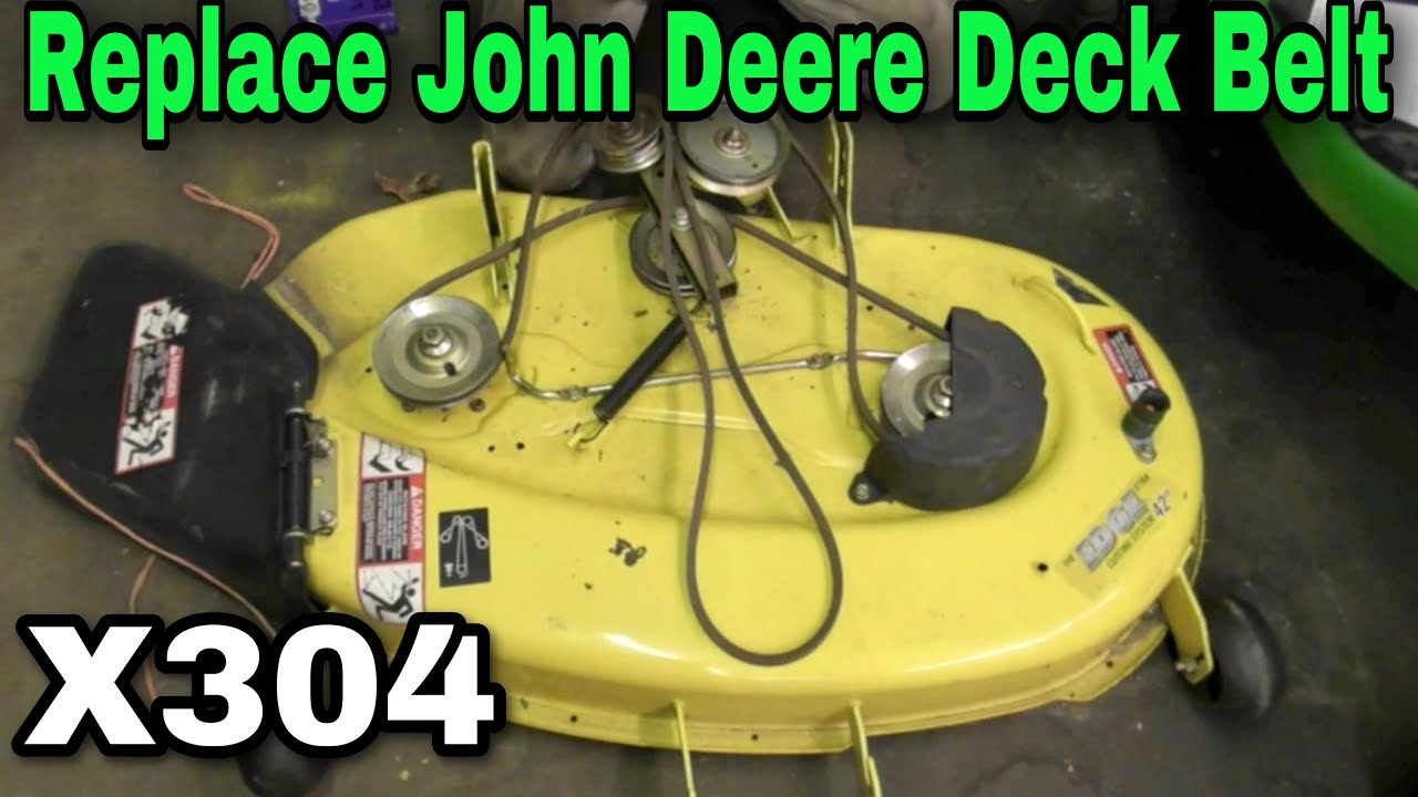 How To Replace A Deck Belt On John Deere X304 Riding Mower With 455 Lawn Tractor Wiring Diagram Taryl