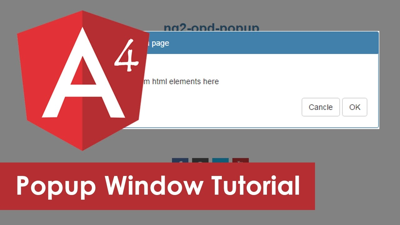 Angular Popup Modal Window Example Youtube