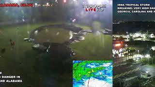 IRMA Tropical Storm Night Video Live Alabama, Georgia, Tampa & Carolina HURRICANE