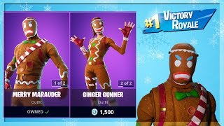 🔴 *NEW* MERRY MARAUDER SKIN // GINGER GUNNER SKIN BACK IN FORTNITE! (FORTNITE BATTLE ROYALE)