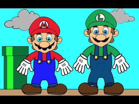 Mario Bros E Luigi Coloring Pages Baby Tv 5 Youtube