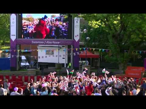 Carrie Grant on The One Show LIVE in Swansea for the Jubilee 04/06/12
