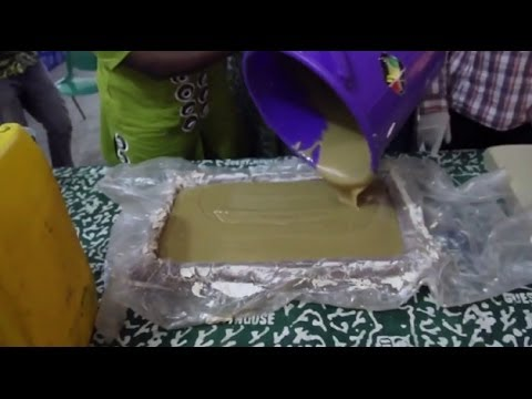 Soap Making Training Video -- Peace Corps Ghana
