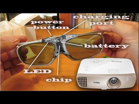 9916bafcd Acer DLP 3D Glasses (E4W) and Benq W2000 projector 3D setup - YouTube