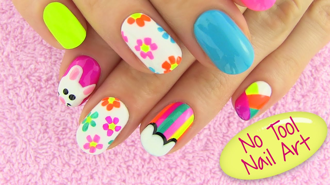 DIY Nail Art Without Any Tools! 5 Nail Art Designs   DIY Projects   YouTube