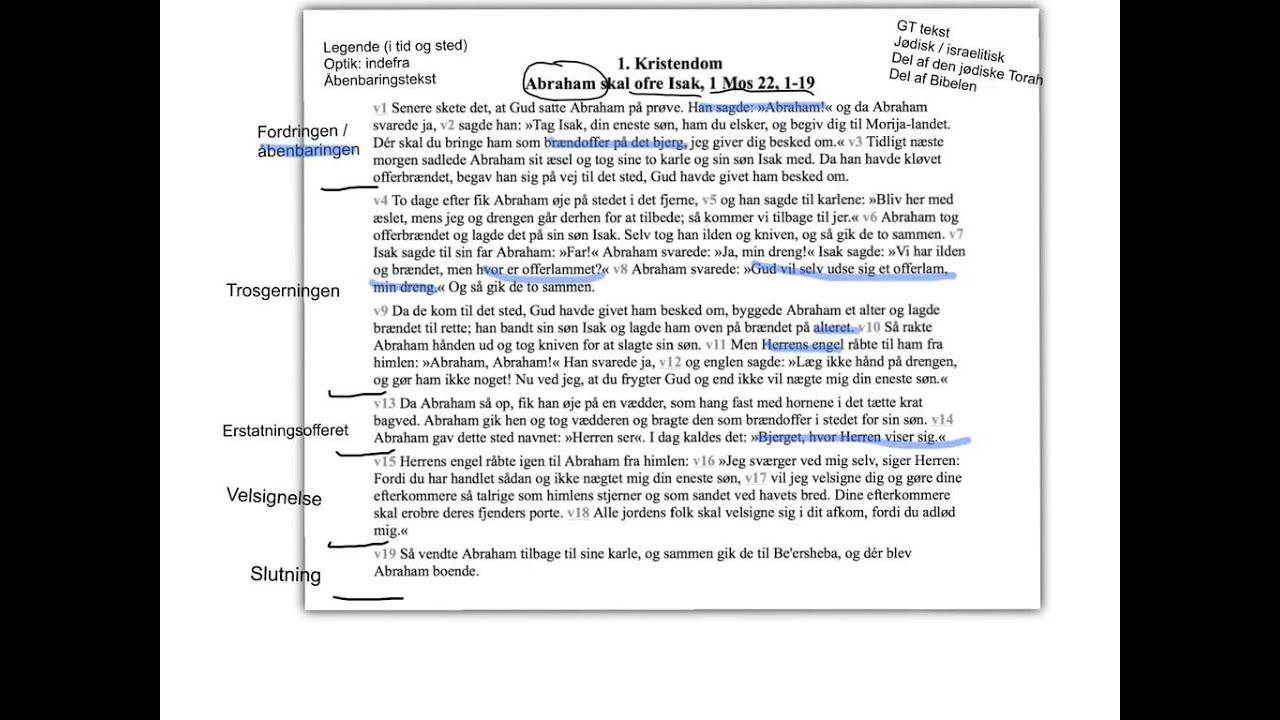 Analyse af Abrahams ofring af Isak
