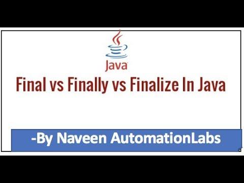 final vs finally vs finalize in Java