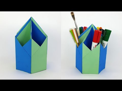 How to make Pen Stand (Pen Holder) - DIY Paper Pencil Holder