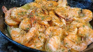 Garlic Shrimp Recipes \/ Easy Garlic Buttered Shrimp Recipe