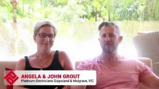 Angela John Grout Testimonial 2014