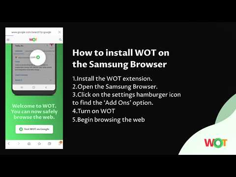How To Install WOT On The Samsung Browser | Web Of Trust