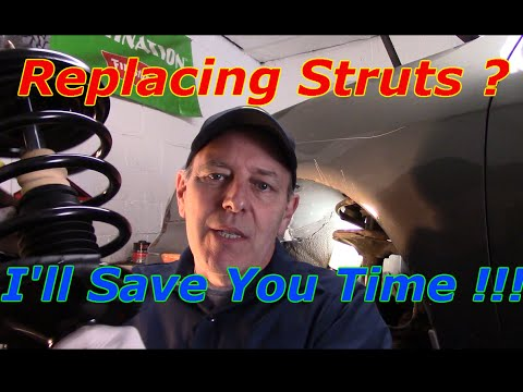 How to replace front and rear struts on a 2000 Infiniti I 30