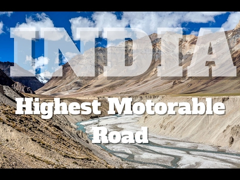 I N D I A - Highest Motorable Road - 4K