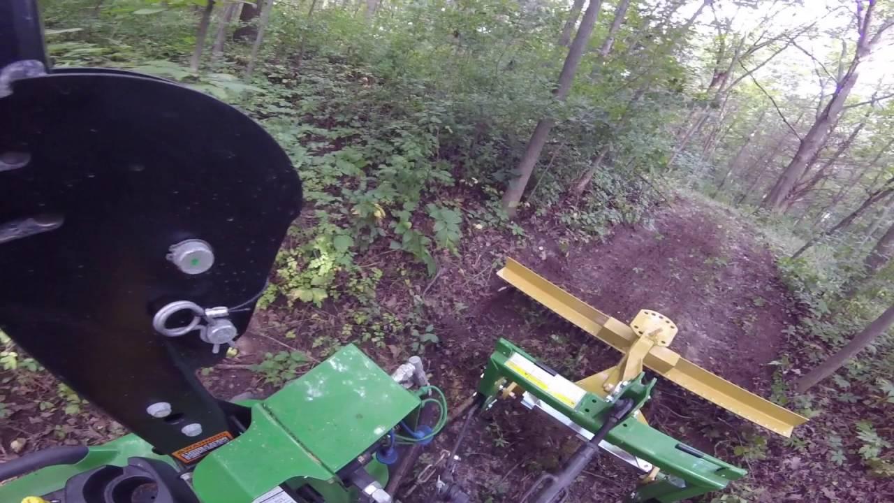 landscape rake raking the trails through the woods youtube