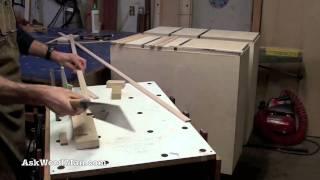How To Make Plywood Boxes • 29 Of 64 • Woodworking Project For Kitchen Cabinets, Desks, Etc...