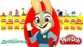 Huevo Sorpresa Gigante de Zootopia de Judy Hopps en Español Plastilina Play Doh thumbnail