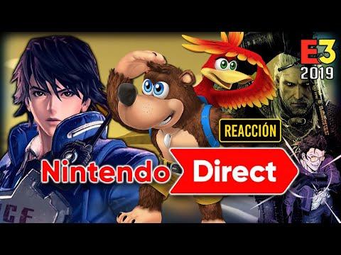 Mi REACCIÓN al NINTENDO DIRECT del E3 2019: Zelda BotW 2, Witcher 3, Dragon Quest en Smash, etc!
