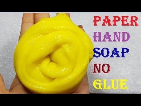 how to make slime no glue hand sope