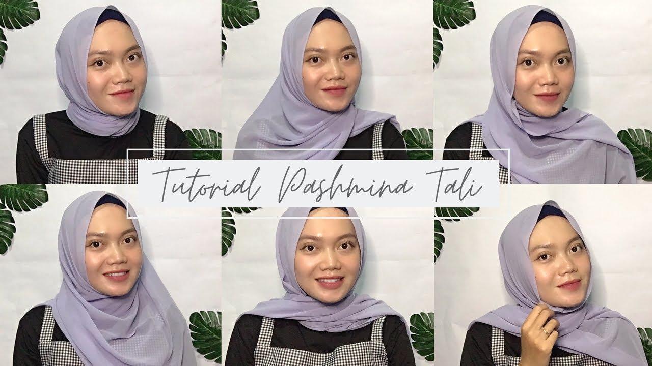 Pashmina Tali Ceruty Babydoll Tutorial Hijab Pashmina Tutorial Pashmina Tali Pashmina Tali Youtube