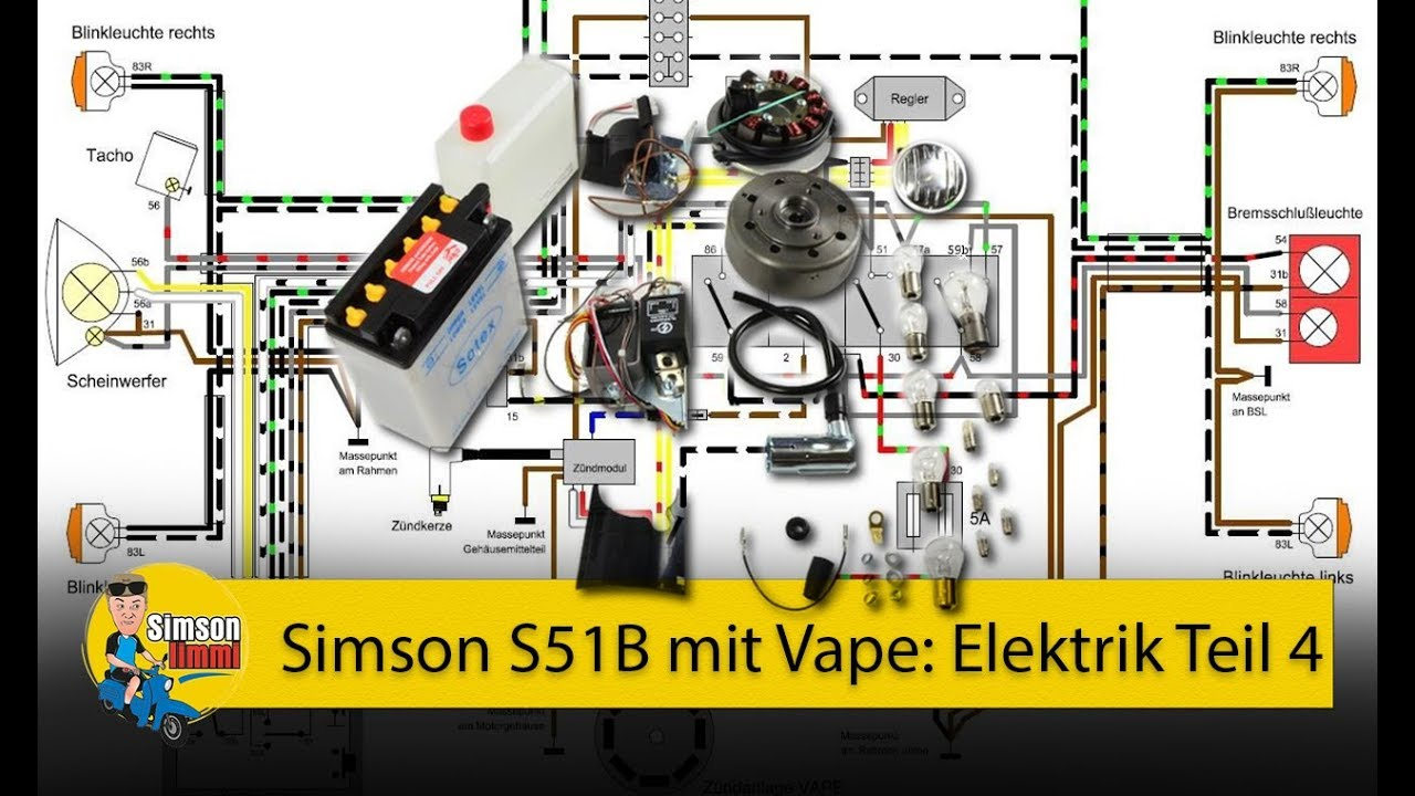 simson s51 b mit vape elektrik teil 4 die vape z ndung. Black Bedroom Furniture Sets. Home Design Ideas